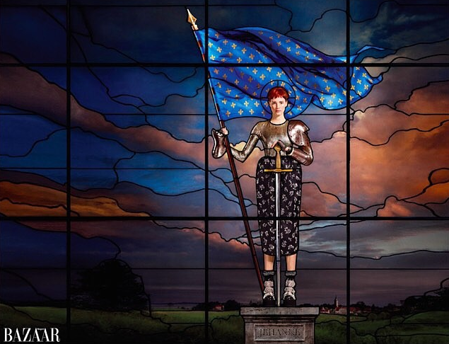 Jessica Chastain pour Harper's Bazaar