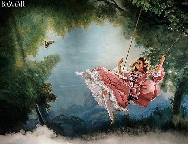 Mariah Carey en Marie-Antoinette pour Harper's Bazaar