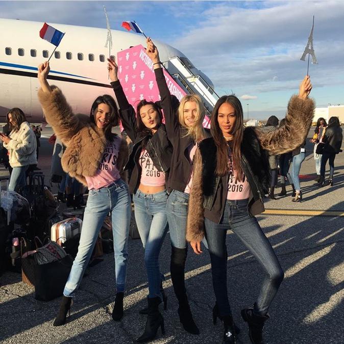 Photos : Kendall Jenner, Bella Hadid, Alessandra Ambrosio : les anges Victoria's Secret prêts à envahir Paris !