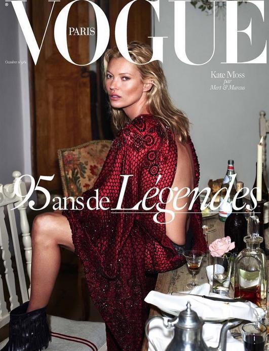 Kate Moss pour les 95 ans de Vogue Paris !