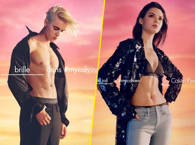 Justin Bieber et Kendall Jenner pour Calvin Klein