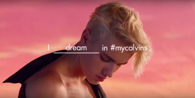 Justin Bieber pour Calvin Klein