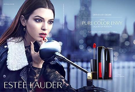 Kendall Jenner pour Pure color envy d'Estée Lauder