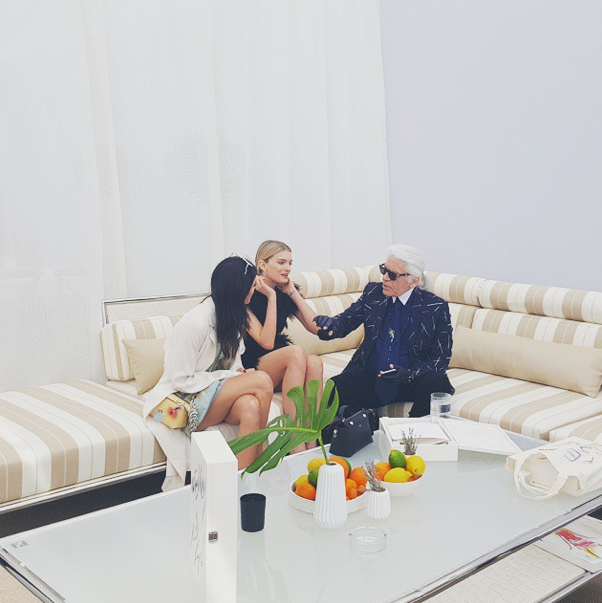 Lily Donaldson, Karl Lagerfeld, Kendall Jenner