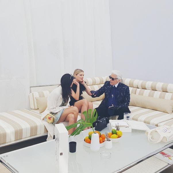 Lily Donaldson, Karl Lagerfeld, Kendall Jenner