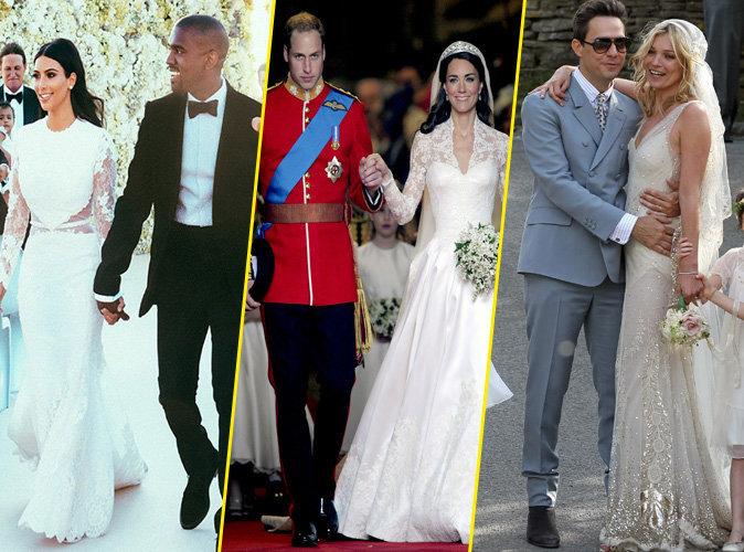 Kim Kardashian et Kanye West, Prince William et Kate Middleton, Kate Moss et Jamie Hince