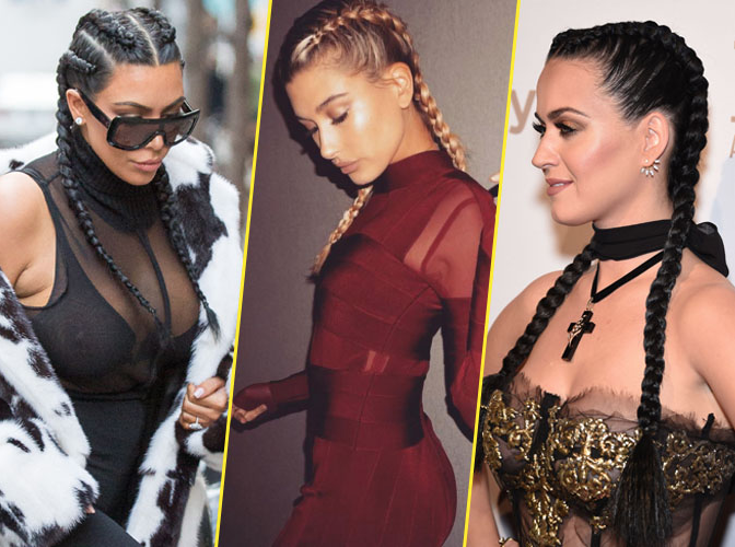 Photos : Kim Kardashian, Hailey Baldwin, Katy Perry... Elles sont toutes folles des nattes !