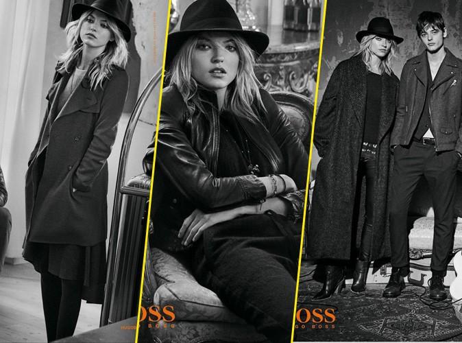 Martha Hunt pose pour la campagne Automne - Hiver 2015 de la collection BOSS Orange de chez Hugo Boss