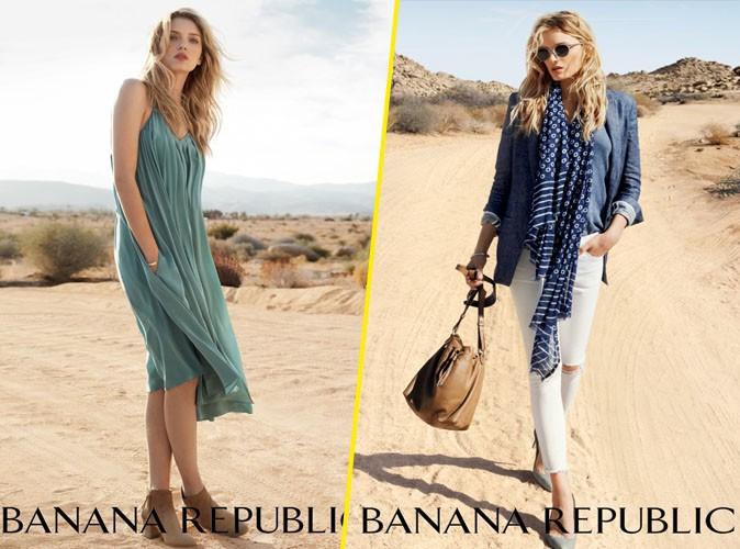 La British Lily Donaldson, en tenue d'été pour Banana Republic