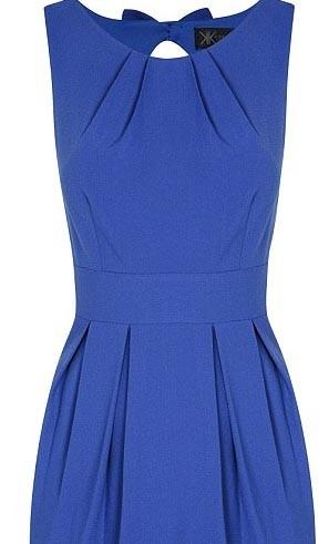 Robe bleue avec détail noeud - 49€