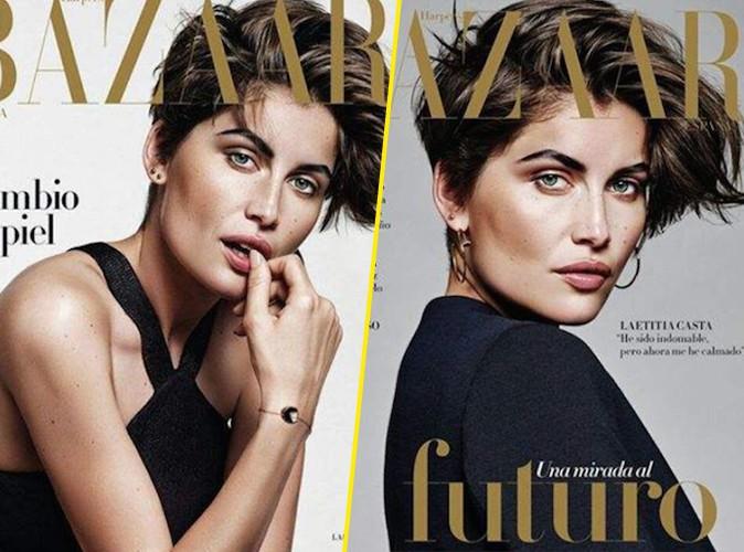 Photos : Laetitia Casta, glamour et sensualité sont au rendez-vous pour Harper Bazaar Espagne !