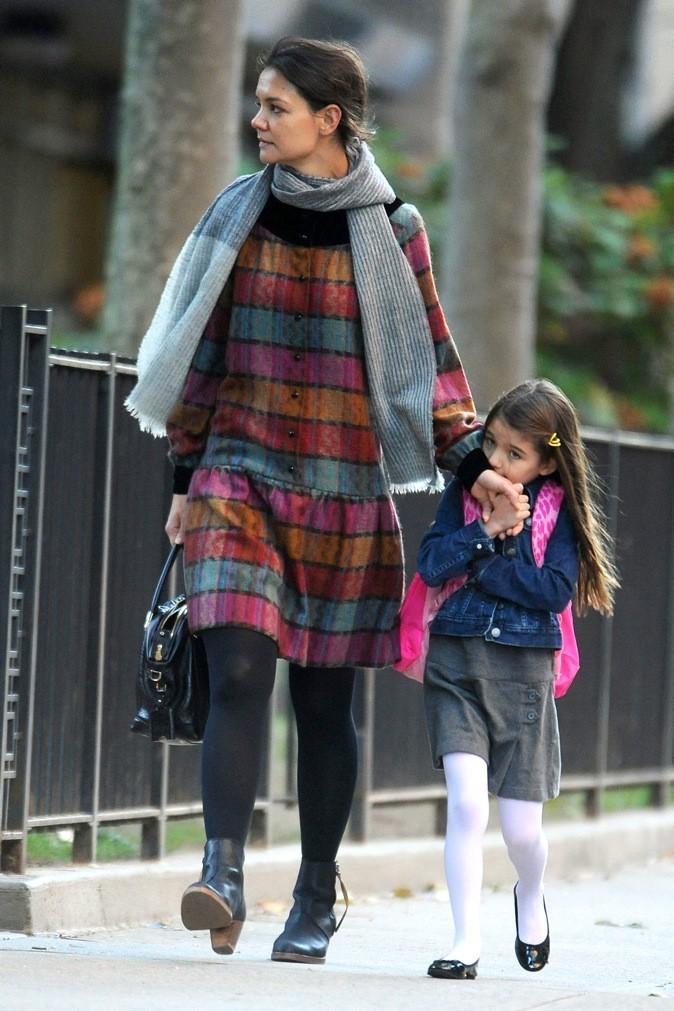 Katie Holmes emmène Suri Cruise à l'école