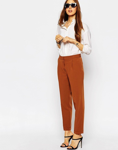 Pantalon carotte, 30,99€