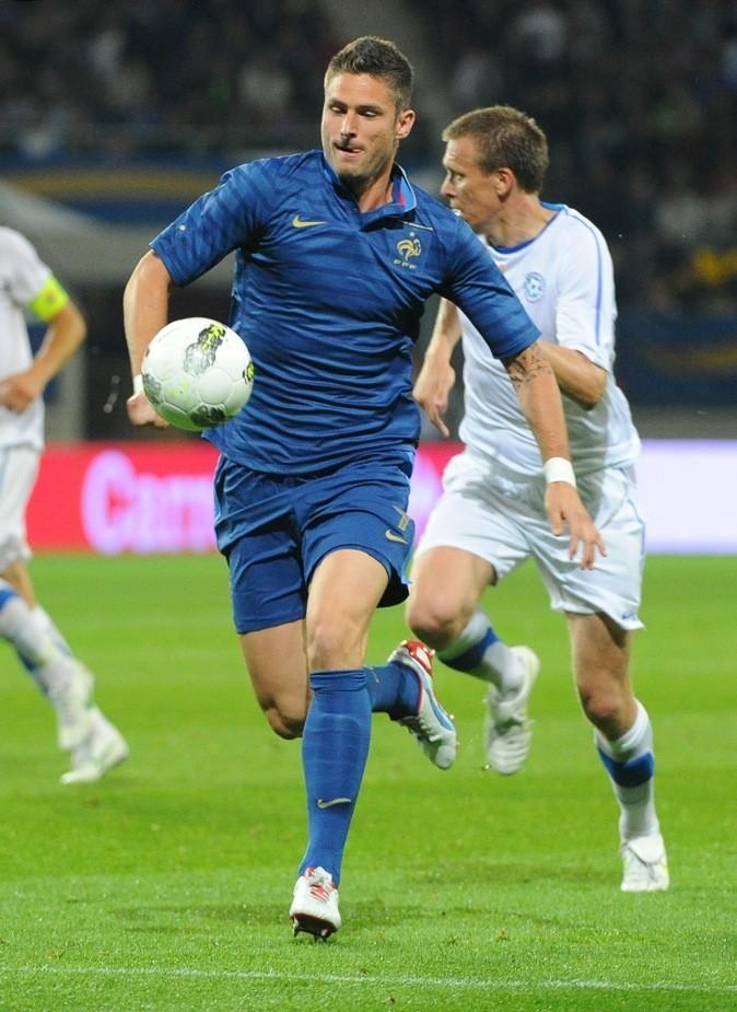 Olivier Giroud transpire sur le terrain !