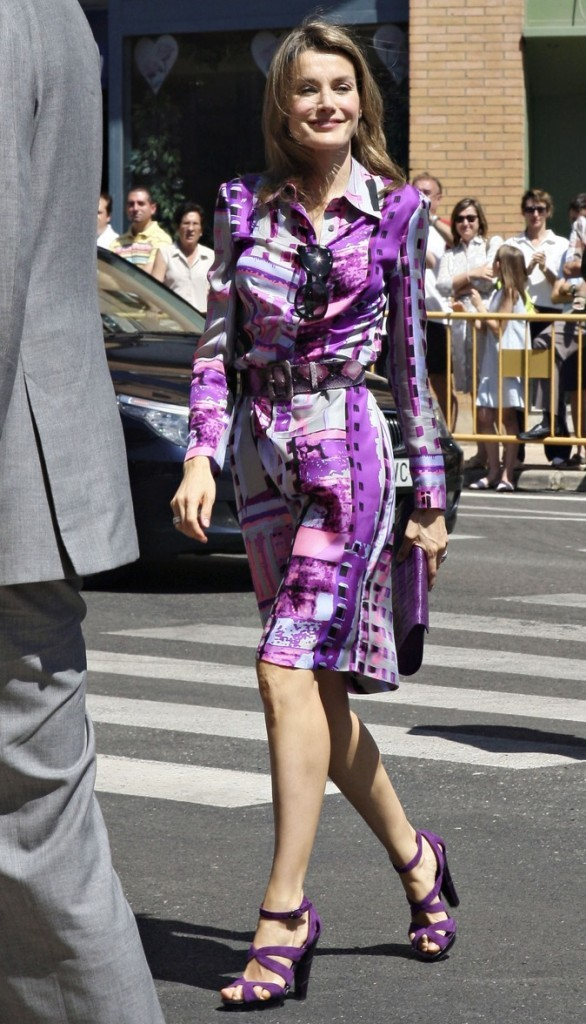 Elle assortie ses escarpins à sa robe !