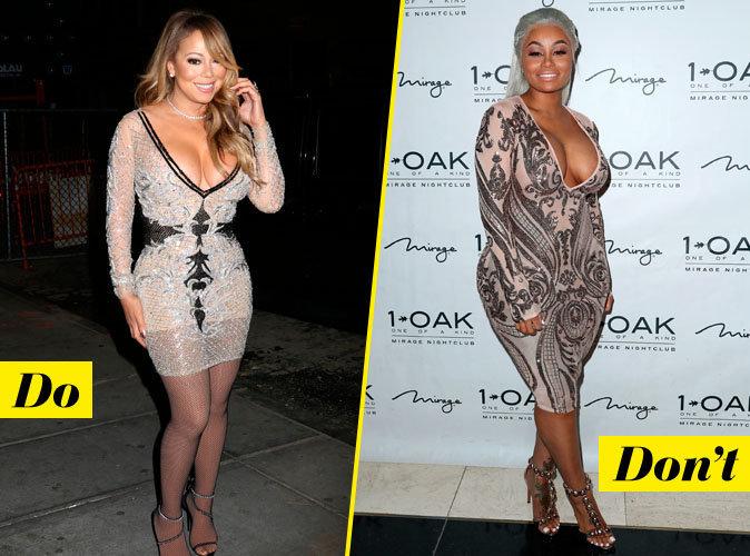 La robe moulante - Do : Mariah Carey / Don't : Blac Chyna