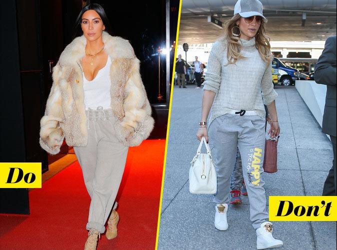 Le jogging gris stylé - Do : Kim Kardashian / Don't : Jennifer Lopez