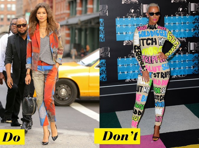 L'imprimé arty - Do : Zendaya / Don't : Amber Rose