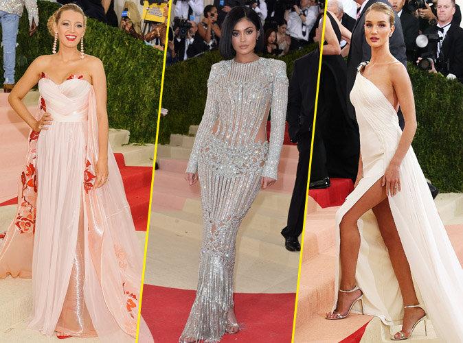 Blake Lively, Kylie Jenner et Rosie Huntington-Whiteley sur le red carpet du Met Gala 2016