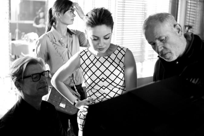 Mila Kunis pour la collection printemps-été 2012 de Dior (behind the scene)
