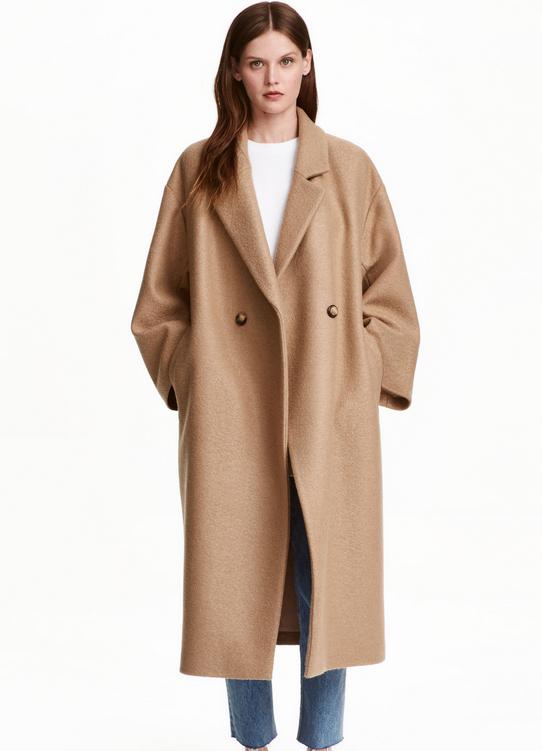 Manteau oversize en laine - H&M - 129€