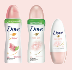 Déodorants compressés Dove