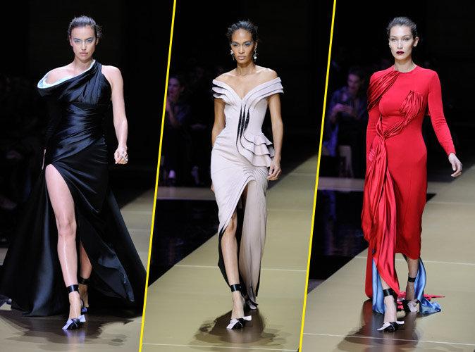 Photos : Mode : Bella Hadid, Joan Smalls et Irina Shayk rayonnantes pour le défilé Haute Couture Atelier Versace !