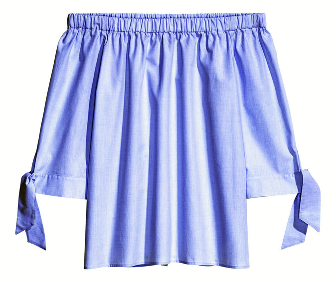 Blouse épaules dénudées, H&M 24,99 €