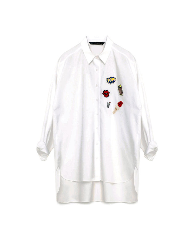 Chemise à patchs, Zara 29,95 €