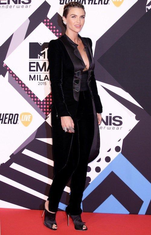 Ruby Rose aux MTV EMA 2015 à Milans, le 25 octobre 2015