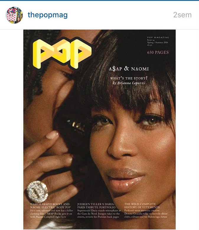 Photos : Naomi Campbell et A$AP Rocky : en couple hot pour Pop Magazine!