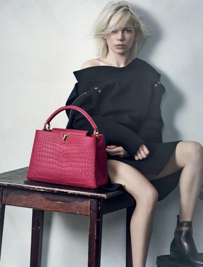 Photos : Nouvelle campagne Louis Vuitton pour la jolie blonde Michelle Williams !