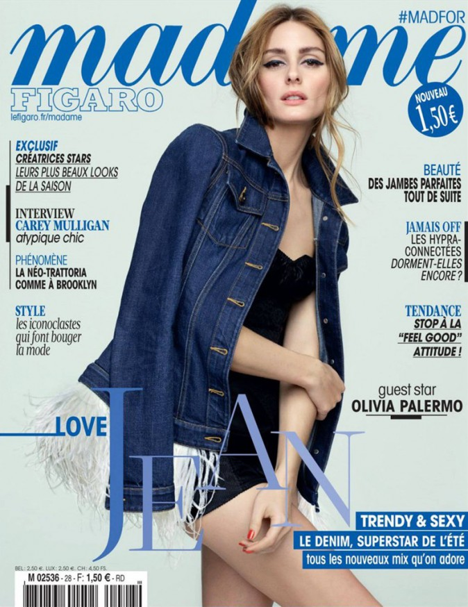 Olivia Palermo, sensuelle en couverture de Madame Figaro