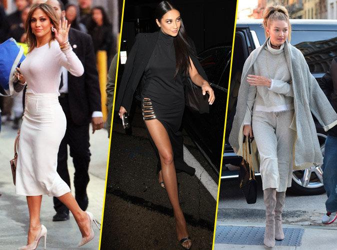 Jennifer Lopez, Shay Mitchell et Gigi Hadid