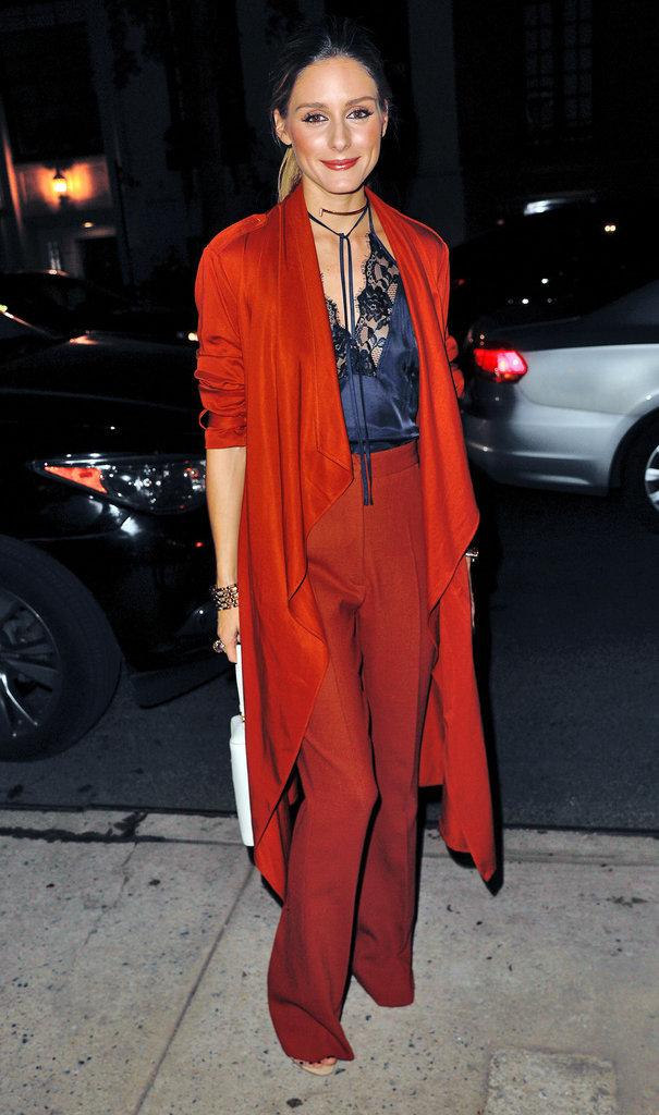 L'influenceuse mode Olivia Palermo, le 13 octobre à New York