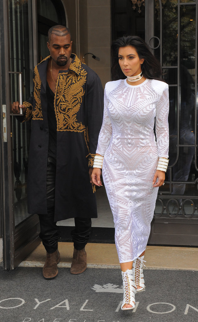 Kanye West et Kim Kardashian en Balmain
