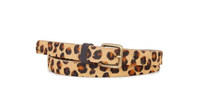 Ceinture à poil imprimé léopard – MONOPRIX – 19,99€