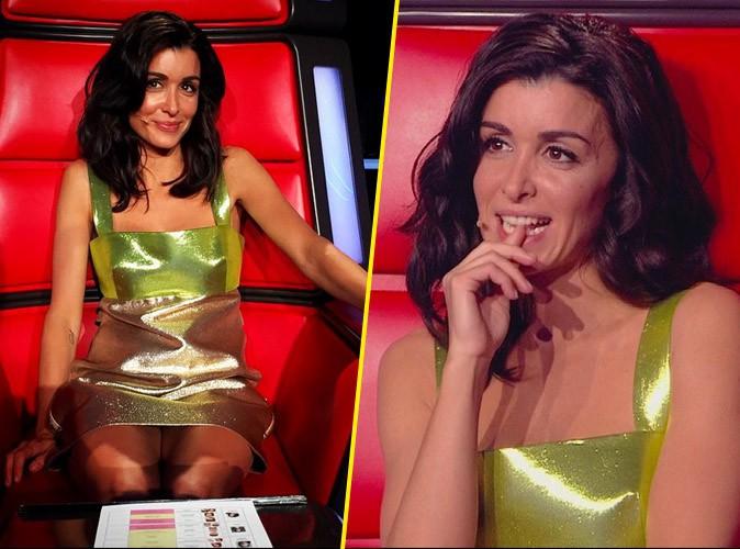 Jenifer en robe bonbon de chez Fausto Puglisi