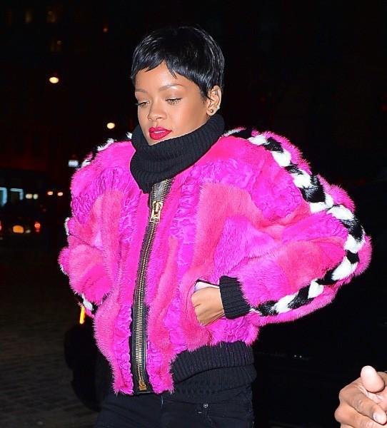 Rihanna à New York, le 16 décembre 2013.