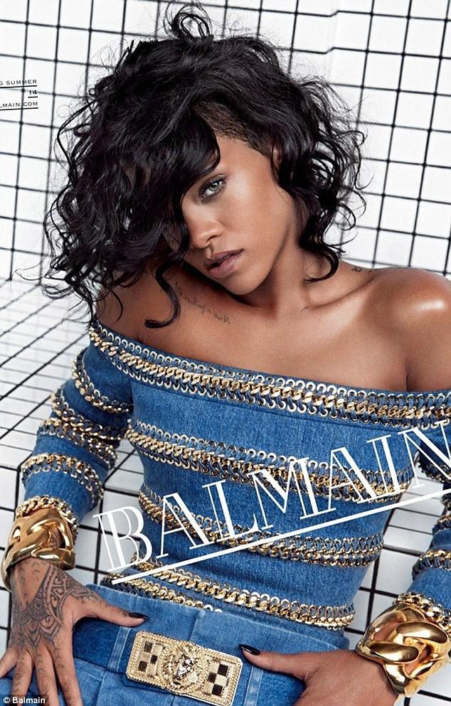 Rihanna nouvelle égérie Balmain Printemps-Eté 2014.