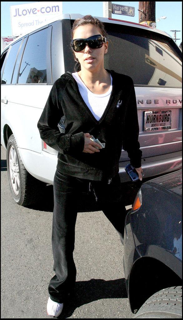 Eva Longoria dans son survêtement en velours