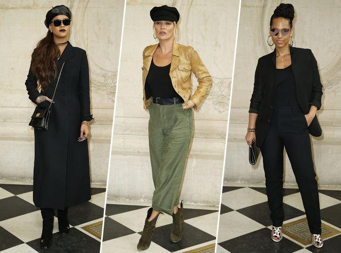 Rihanna, Kate Moss, Alicia Keys... Élégantes et minimalistes au défilé Dior