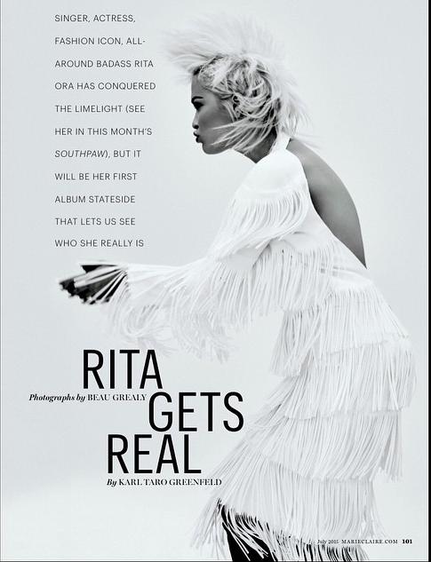 Rita Ora pour Marie-Claire USA