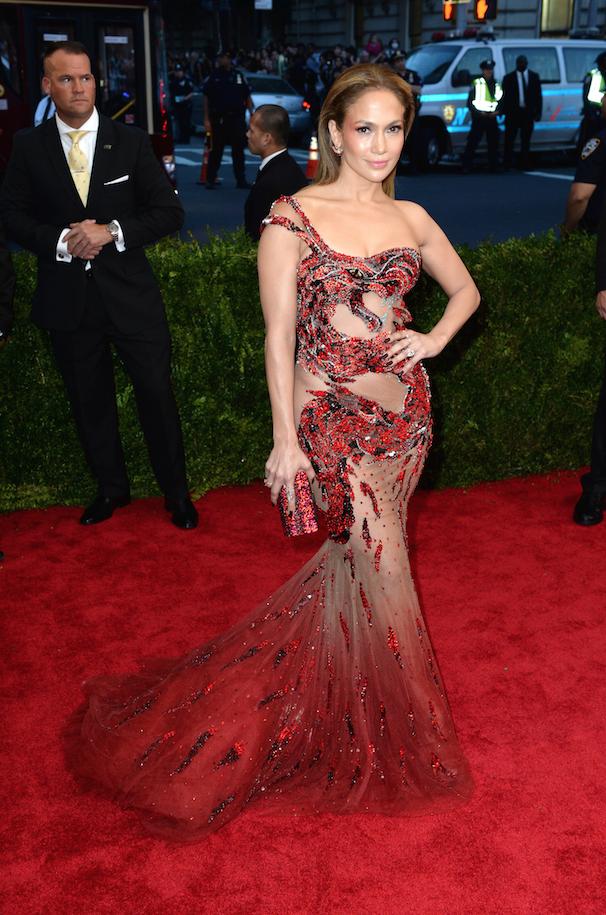 Jennifer Lopez en Donatella Versace