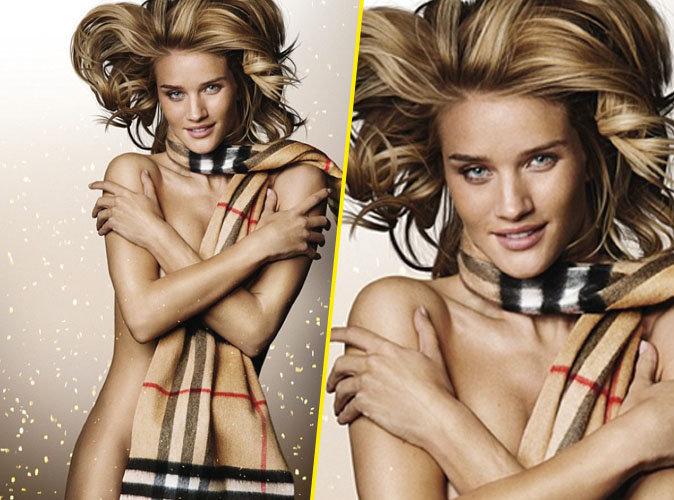 Photos : Rosie Huntington-Whiteley nue et sexy pour Burberry