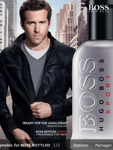 En 2012 : Ryan revient pour Hugo Boss Bottle Sport !