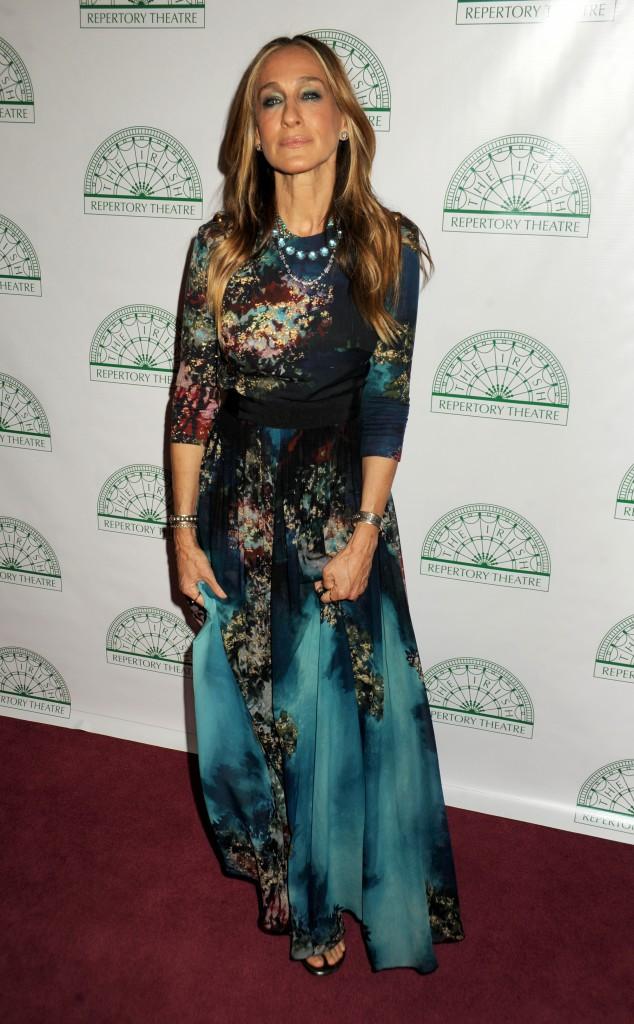 Sarah Jessica Parker, habillée en Elie Saab, pour le YEATS, un évènement organisé par le Irish Repertory Theatre à New York City.