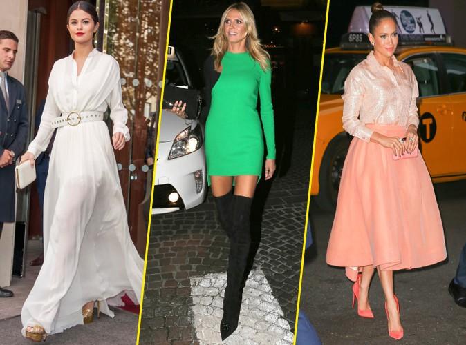 Photos : Selena Gomez, Heidi Klum, Jennifer Lopez... Qui a été la plus stylée de la semaine ?
