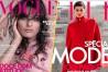 Photos : Sequins ou cape ? Isabeli Fontana s'offre la couverture de deux magazines, Vogue Brésil et ELLE France !