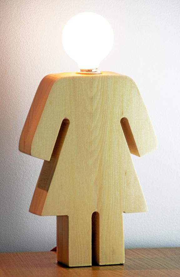 Lampe en bois, Jurassic Light 125 €